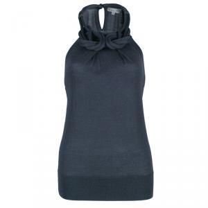 Celine Grey Necklace Knit Top M