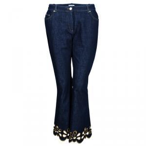 Celine Embroidered Floral Flare Jeans L