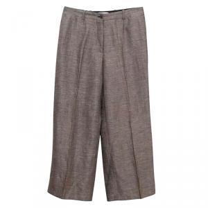 Celine Brown Tweed Wide Leg Pants M