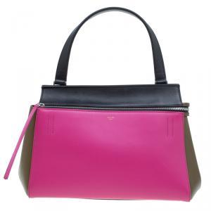حقيبة سيلين إيدج جلد ناعم ثلاثية اللون صغيرة