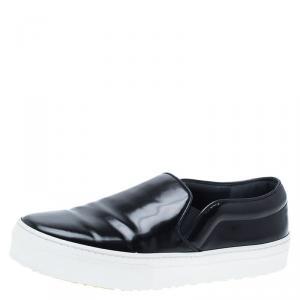 Celine Black Patent Slip On Sneakers Size 36