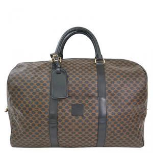 Celine Black/Brown Macadam Canvas Suitcase