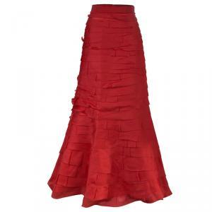 CH Carolina Herrera Taffeta Maxi Skirt L