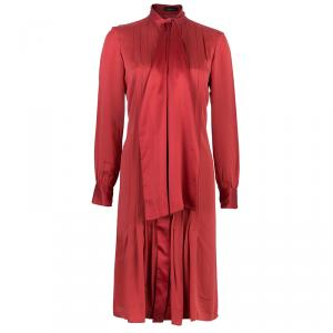 CH Carolina Herrera Red Neck Tie Dress M