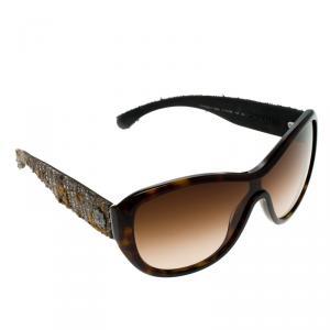 Chanel Brown Tortoise 5242 Tweed Sunglasses