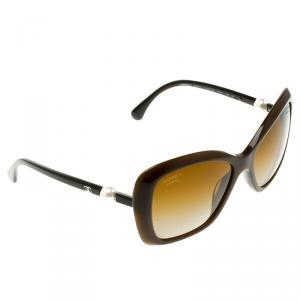Chanel Brown 5303 Polarised Retro Square Sunglasses