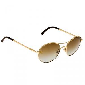 Chanel Gold 4190 Round Aviators