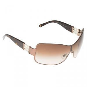Chanel Brown 4177 Perle Collection Shield Sunglasses