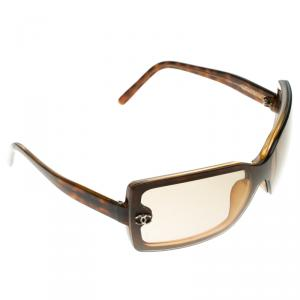 Chanel Brown Tortoise 5065 CC Rectangle Sunglasses