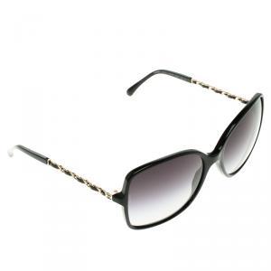 Chanel Black 5210-Q Chain Detail Square Sunglasses