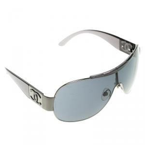 Chanel Black 4136 Round Shield Sunglasses