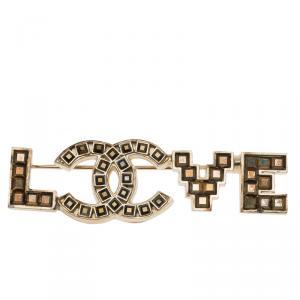 Chanel CC Love Brooch