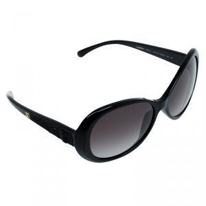 Chanel Black 5156-B Havana CC Round Sunglasses