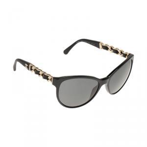 Chanel Black 5215 Chain Detail Cat Eye Sunglasses