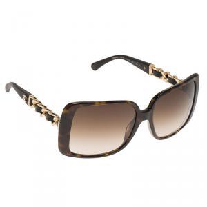 Chanel Tortoise Frame 5208 Chain Detail Square Sunglasses