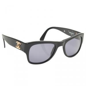 Chanel Black 02462 Vintage Sunglasses