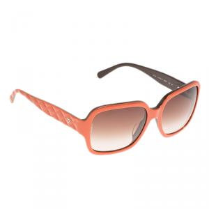 Chanel Orange Quilted 5124 Oversized Sunglasses