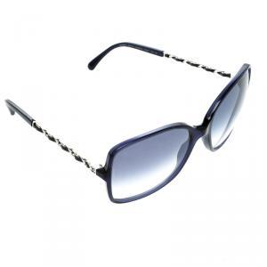 Chanel Blue 5210-Q Chain Detail Square Sunglasses
