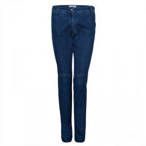 Chanel Indigo Dark Wash Denim Boot Cut Jeans M