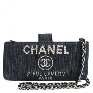 Chanel Blue Denim Deauville IPhone Case