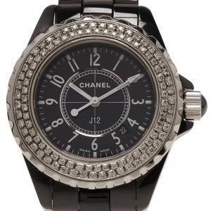 Chanel Black Ceramic J12 Women's Wristwatch 33MM
