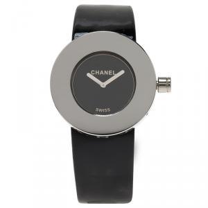 Chanel Black Stainless Steel La Ronde Women's Wristwatch 30MM