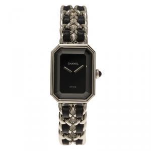 Chanel Black Stainless Steel Premiere Women's Wristwatch 20MM