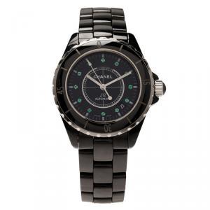 Chanel Black Ceramic J12 Women's Wristwatch 38MM