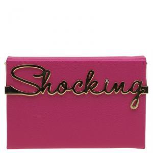 Charlotte Olympia Pink Leather Shocking Vanina Clutch