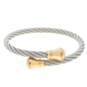 Charriol Celtic Bourse Titanium Cable and Gold Plated Bracelet