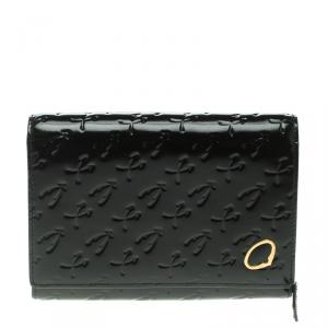 Charriol Black Monogram Patent Leather Wallet