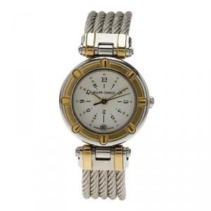 Charriol White Gold-Plated Stainless Steel Classic Women's Wristwatch 24MM