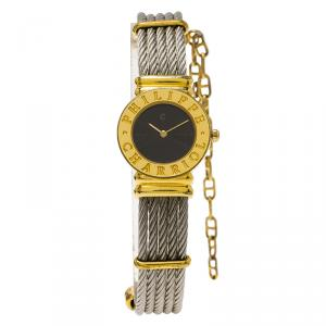 Charriol Black Gold-Plated Stainless Steel St. Tropez Women's Wristwatch 24MM
