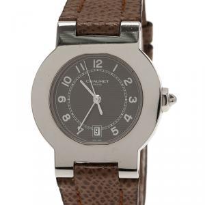 Chaumet Brown Stainless Steel Sport Women's Wristwatch 35MM