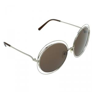 Chloe Gold Carlina CE114S 743 Oversized Round Sunglasses
