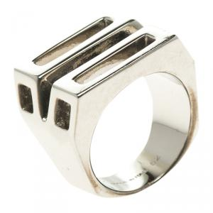 Chloe Bianca Silver Tone Ring Size 52