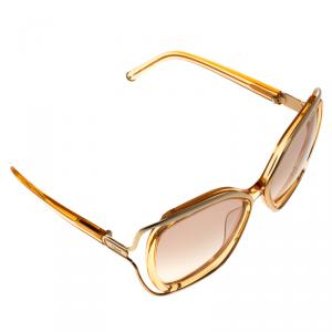 Chloe Gold/Pink CE625S Square Sunglasses