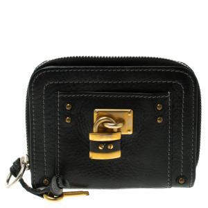 Chloe Black Leather Paddington Small Wallet