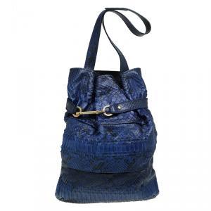 Chloe Blue Python Joan Bucket bag