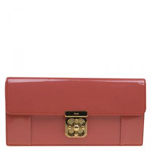 Chloe Coral Patent Leather Elsie Continental Wallet