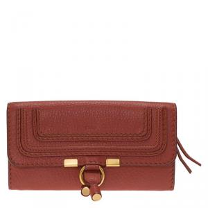 Chloe Copper Leather Marcie Continental Wallet