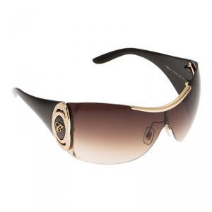 Chopard Black and Gold SCH748S Shield Sunglasses