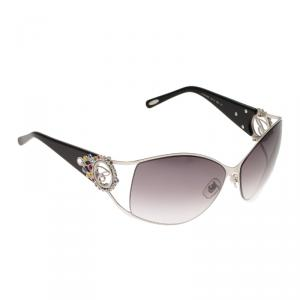 Chopard Silver SCH 805S Embellished Round Sunglasses