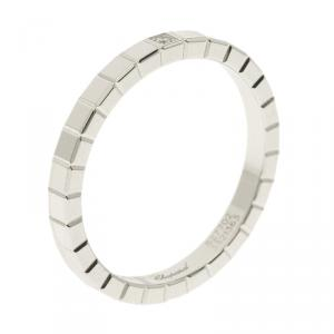 Chopard Ice Cube Diamond & 18k White Gold Band Ring Size 55