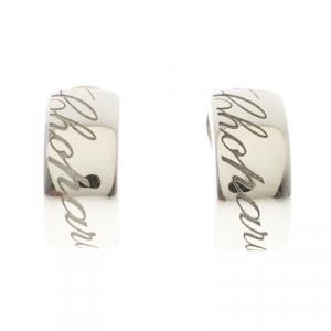 Chopard Chopardissimo 18k White Gold Clip On Huggie Earrings