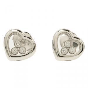 Chopard Happy Curves White Gold and Diamonds Earrings
