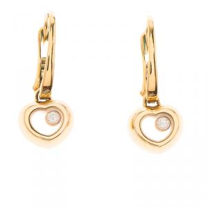 Chopard Miss Happy Diamond Rose Gold Drop Earrings