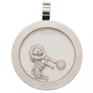 Chopard Happy Diamonds Floating Lion Motif Diamond White Gold Pendant
