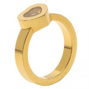 Chopard Miss Happy Diamond & Yellow Gold Ring Size 52