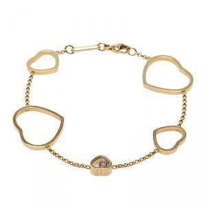 Chopard Happy Hearts Diamond & 18k Rose Gold Bracelet 17cm